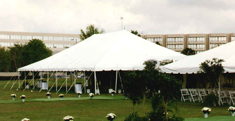 & 40 x 60 pole supported tent