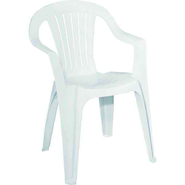 Chairs - White resin stacking chairs ...